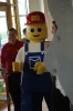 A life-size LEGO MiniFig will crush you with giant plastic (foam) hands if you misbehave!