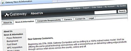 Gateway: Online no more